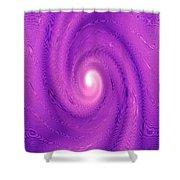 Moveonart Movement In Purple 2 Shower Curtain