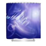 Moveonart Mysterious Crystal City Coming Down Shower Curtain