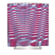Moveonart New Future Sound Waves 1 Shower Curtain