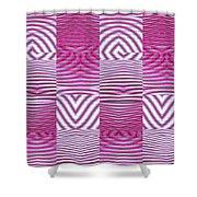Moveonart New Future Texture 1 Shower Curtain