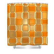 Moveonart Orange Bricks Shower Curtain