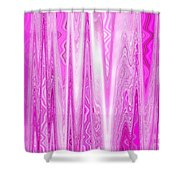 Moveonart Pink Dream Frequency Shower Curtain