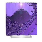 Moveonart Purple Memories Two Shower Curtain