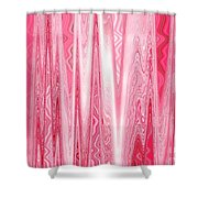Moveonart Red Dream Frequency Shower Curtain