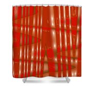 Moveonart Red Gold Protection Shower Curtain