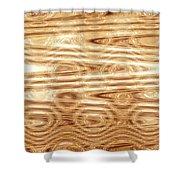 Moveonart Refining Purifying Gold Shower Curtain