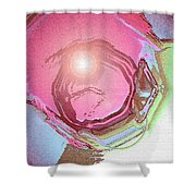 Moveonart Renewing  Mind Clear Thought Therapy   Red Shower Curtain
