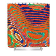Moveonart Spontaneous Abstract 1 Shower Curtain