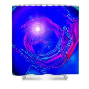 Moveonart Telepathic People Planet Earth Shower Curtain