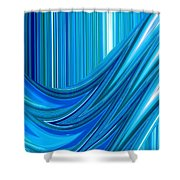 Moveonart The Blue Wave Shower Curtain