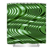 Moveonart The Wave Of The Future Is Here 2 Shower Curtain
