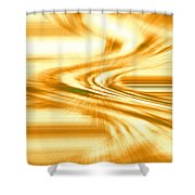 Moveonart They Say The Streets Are Paved With Gold Shower Curtain