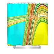 Moveonart Total Increase In Light And Waves Shower Curtain