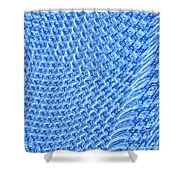 Moveonart Turquoise Knit Shower Curtain