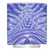 Moveonart United Cosmic Thought 1 Shower Curtain