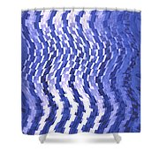 Moveonart Urban Waves 2 Shower Curtain
