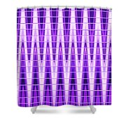 Moveonart Violet Vibes Shower Curtain