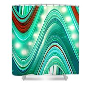 Moveonart Wave Of Enlightenment One Shower Curtain