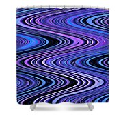 Moveonart Waves In Peaceful Movement Shower Curtain