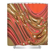 Moveonart Waves Of Interpretation Shower Curtain