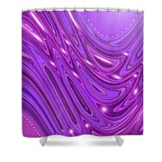Moveonart Waves Of Royal Provision Shower Curtain