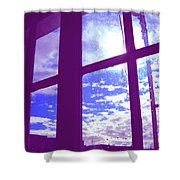 Moveonart Window Watching Series 4 Shower Curtain