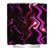 Moveonart Word Of Light Speak Out   One Shower Curtain