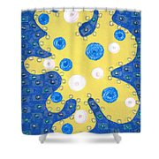 Moveonart Yellow Amoeba Shower Curtain