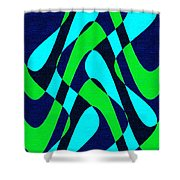 Moveonart Zen Waves Series 2 Shower Curtain