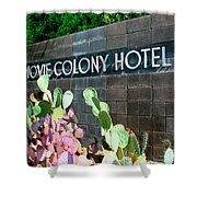 Movie Colony Hotel Palm Springs Shower Curtain
