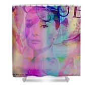 Movie Icons - Audrey Hepburn Vi Shower Curtain