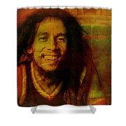 Movie Icons - Bob Marley I Shower Curtain