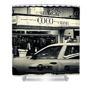 Movie Theatre Paris In New York City Shower Curtain by Sabine Jacobs