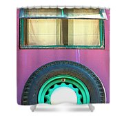 Movin On Palm Springs Shower Curtain