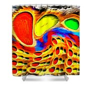 Moving Colors Shower Curtain