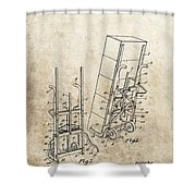 Moving Dolly Patent Shower Curtain