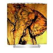 Moving Elephant Shower Curtain