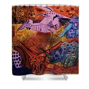 Moving Life Shower Curtain