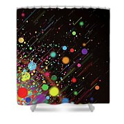Moving Spheres. Shower Curtain