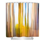 Moving Trees II Saturated Shower Curtain