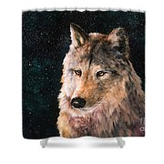 Moving Wolf Shower Curtain