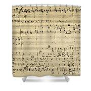 Mozart: Requiem Excerpt Shower Curtain