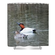 Mr And Mrs Canvasback Shower Curtain