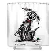 Mr Bark The Noisy Dog Shower Curtain