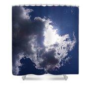 Mr Blue Sky Shower Curtain