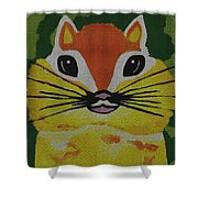 Mr Chipmunk Shower Curtain