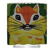 Mr Chipmunk Shower Curtain
