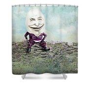 Mr. Egg Head Shower Curtain