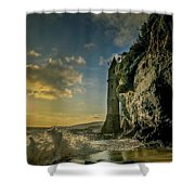 The Pirate's Tower Shower Curtain