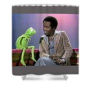 Mr Lou Rawls - Kermit The Frog Shower Curtain